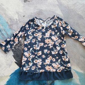 Lauren Conrad floral sweater